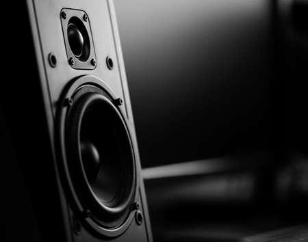 Dos vías de altavoz en el estudio de grabación
