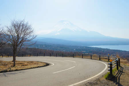 Curvy mountain road in japan photo