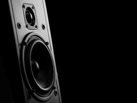 two way: Two way speaker with black background
