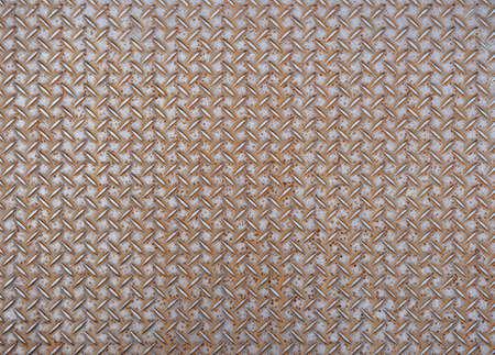 steel sheet: Rusted steel sheet with diamond pattern