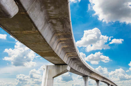 elevated: Underside of an elevated roads Stock Photo