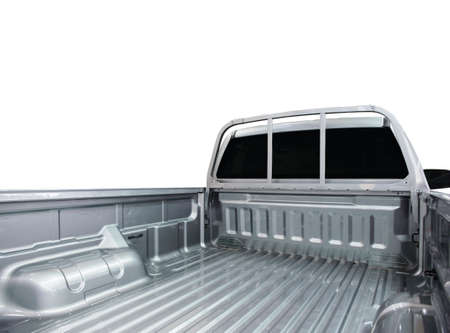 camioneta pick up: Rear view of empty pick-up truck