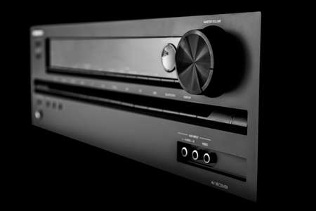 equipo de sonido: receptor de cine en casa est�reo Foto de archivo