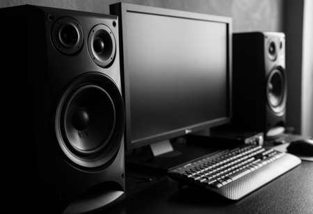 decibel: Sound recording studio Stock Photo