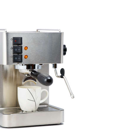 with coffee maker: Coffee maker machine with copy space Stock Photo