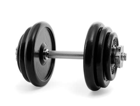 dumbbell: Gym weights on white Stock Photo