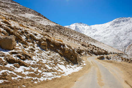 himalayas: Road in himalayas with mountains