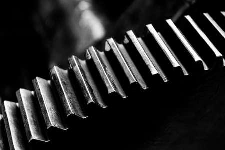 machine teeth: Gears of old historic machine
