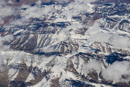 himalayas: Himalayas aerial view from the plane