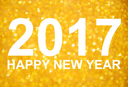 billboard posting: New Year 2017 golden glitter background