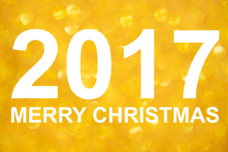 billboard posting: Merry christmas and Happy new year 2017 Stock Photo