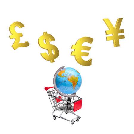 Globe marketing concept Stock Photo