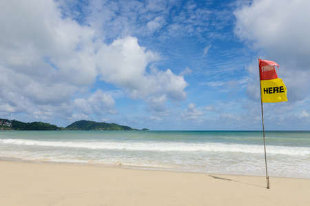 Patong beach and Andaman sea under sky sunny at the summer Reklamní fotografie