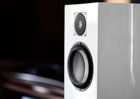White color music speakers background