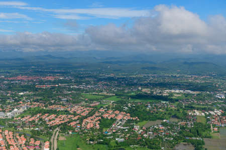 Arial view of Chiang Mai city, Thailand