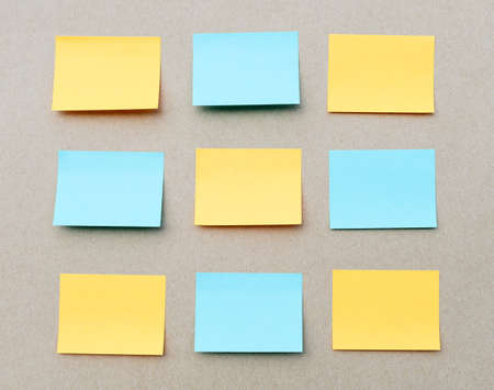Set of blank sticky notes