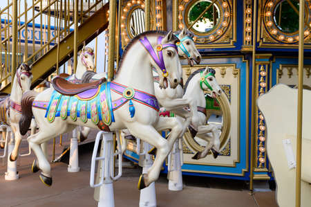 Merry-go-round with horses