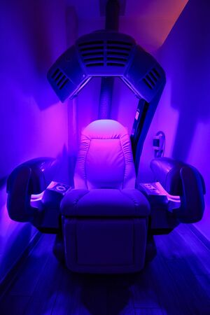 body tanning machine with sunlight lamps Stock Photo