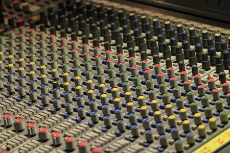 The mixer Panel to create electronic music.