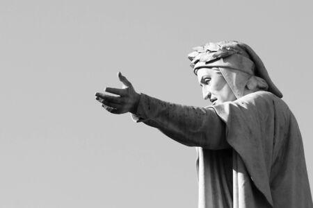 Statue of Dante Alighieri in Naples
