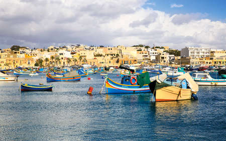 The famous port of Marsaxlokk in the island of Malta, where are the typical boats called