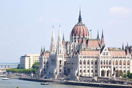 View of the Budapest Parliament Stockfoto - 151085206