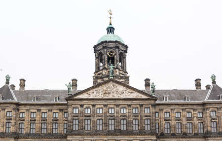 Koninklijk the Royal Palace of Amsterdam photographed frontally