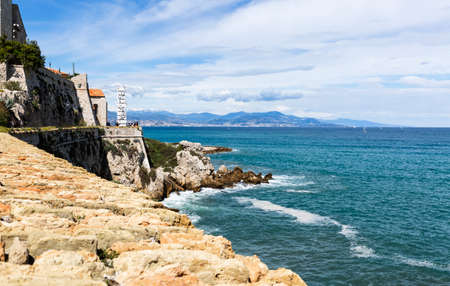 natural landscape of French blue coast, in the city of Antibes