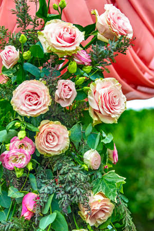 Colorful roses for wedding decoration Zdjęcie Seryjne