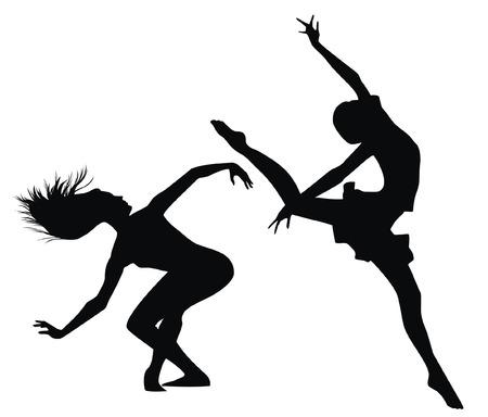 Siluetas de mujeres que bailan