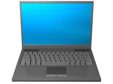 isolated gray laptop computer Stock Photo - 2514075