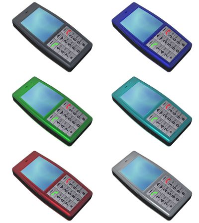 isolated mobile cellular phone Stock Photo - 2514077