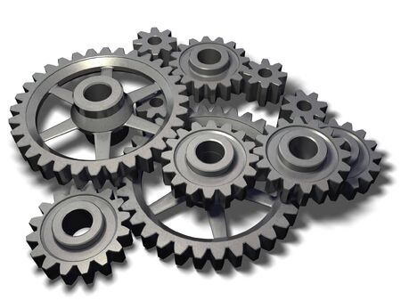 isolated metal cogwheels mechanism Stock Photo - 2514079