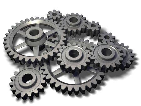isolated metal cogwheels mechanism Stock Photo - 2514079