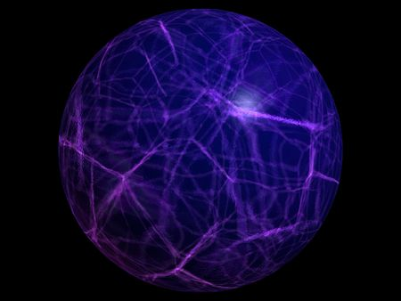 electrify: blue electric ball on black background Stock Photo