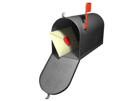 Mailbox with a love letter photo