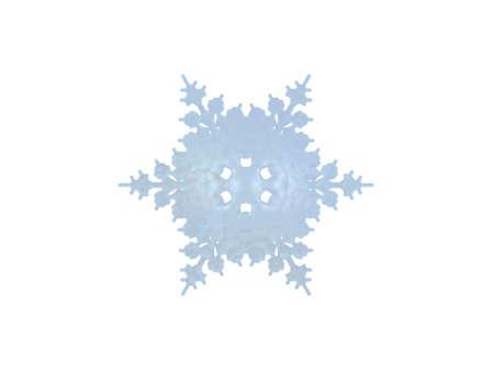 iceflower: Un caso isolato fiocco di neve su sfondo bianco
