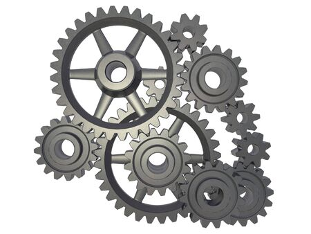 An isolated cogwheel mechanism on white background Stock Photo - 3336062