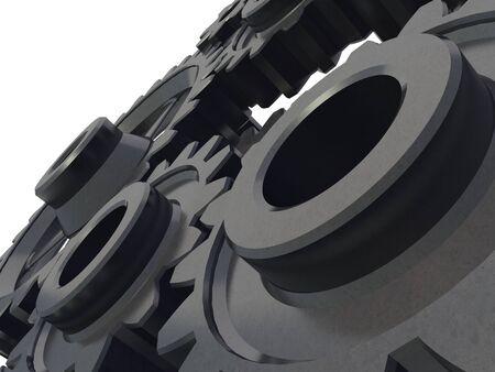 A cogwheel mechanism detail on white background Stock Photo - 3336061