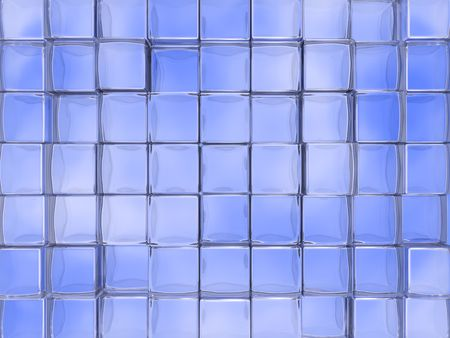 An abstract background with glass cube tiles Stock Photo