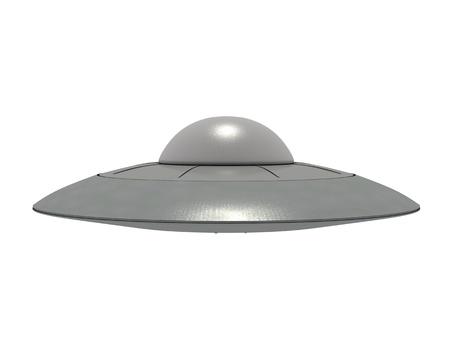 platillo volador: Un OVNI met�lico aislado al pasar el rat�n sobre fondo blanco