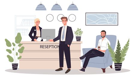 Office reception vector illustration Reklamní fotografie - 139900299