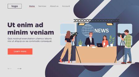 TV news anchors Illustration