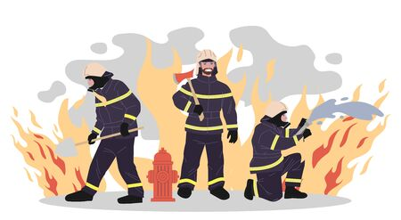Firefighters vector illustration