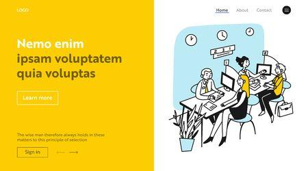 Bank consultants talking to clients Ilustración de vector