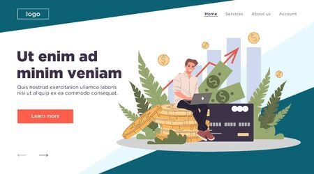 Business solutions for finance vector illustration Ilustração Vetorial