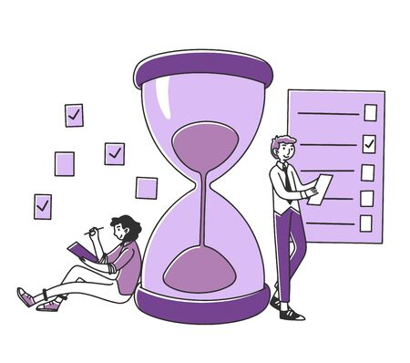 Professionals planning project tasks Illustration