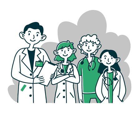 Hospital doctor staff Banco de Imagens - 141382463