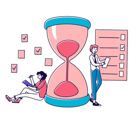 Professionals planning project tasks 向量圖像