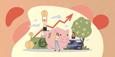 Business people investing into high potential project Ilustração
